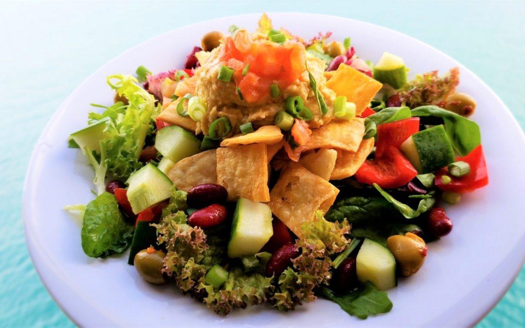 Ensalada de Hummus y Pita Chips