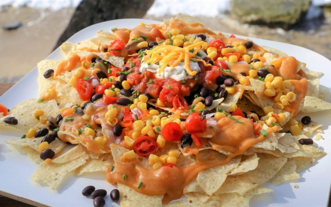 Nachos con Queso Vegano