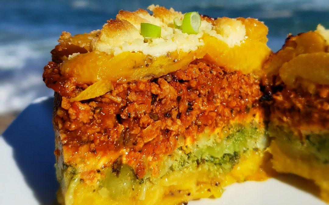 Pastelón de Plátano y Brócoli
